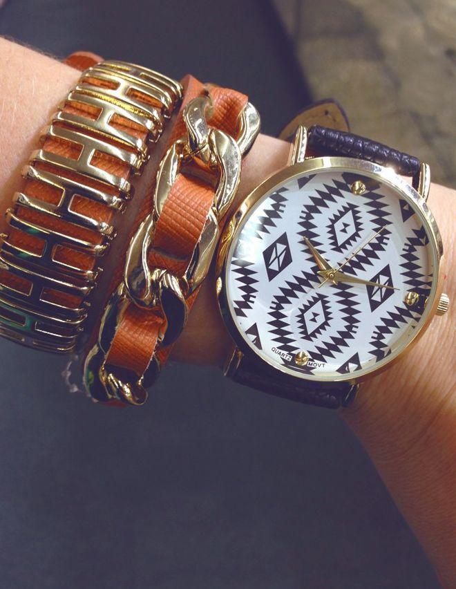 Azetc print Watches